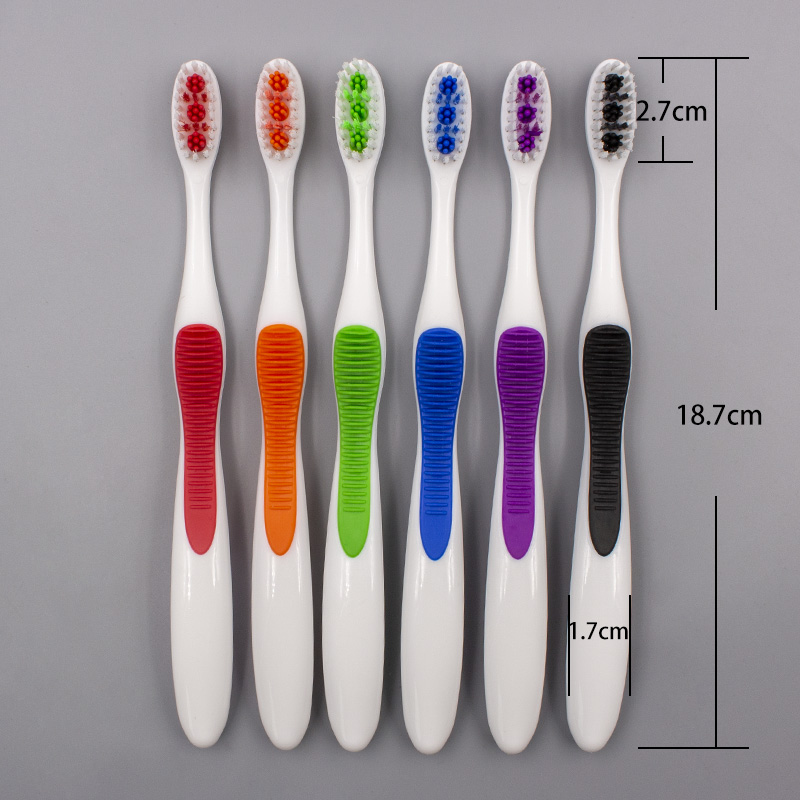 Gum Massage Toothbrush with Tongue Scraper