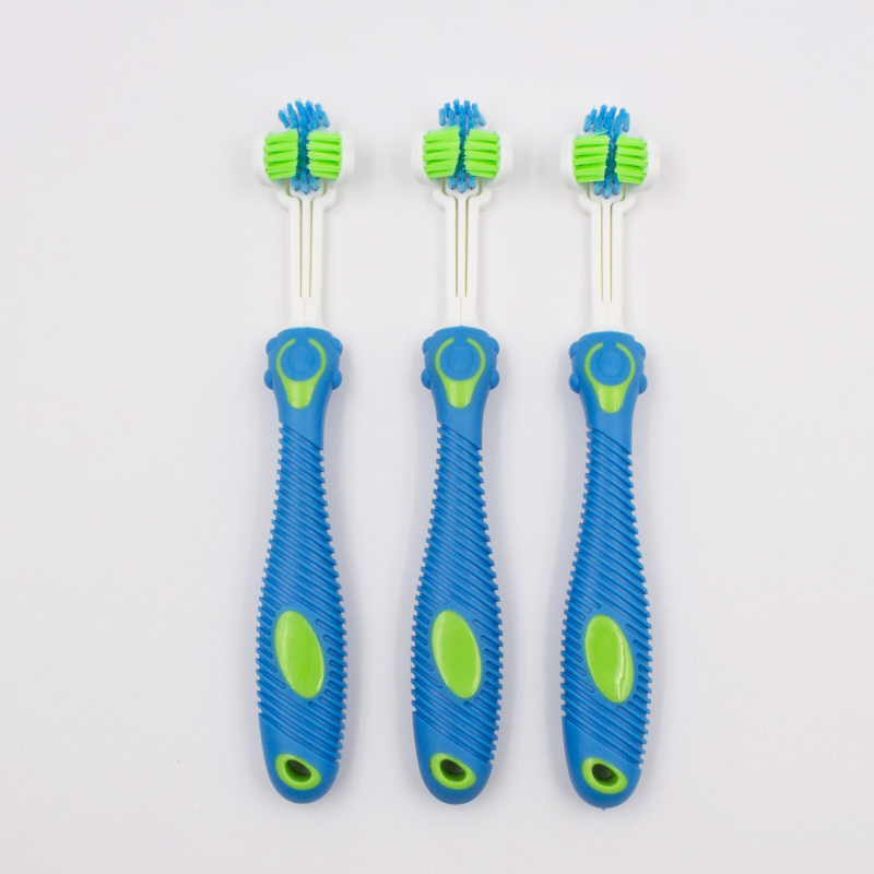 Patented 3 Head Pets Toothbrush