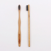 Wave Shape Flat Handle Bamboo Toothbrush