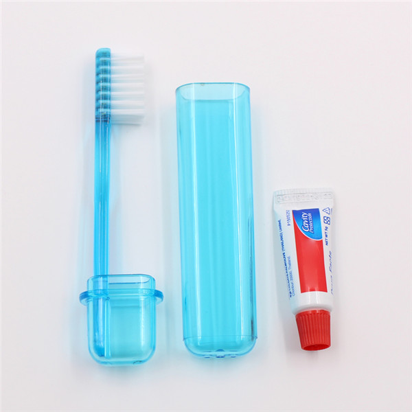 Folding Toothbrush with toothpaste