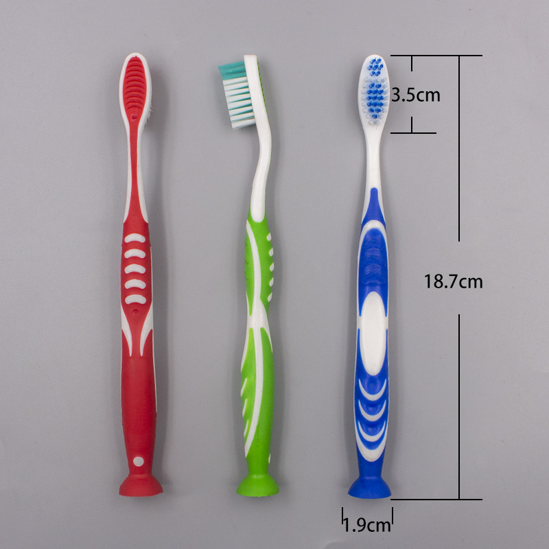 Free-standing Toothbrush with Bottom Suction